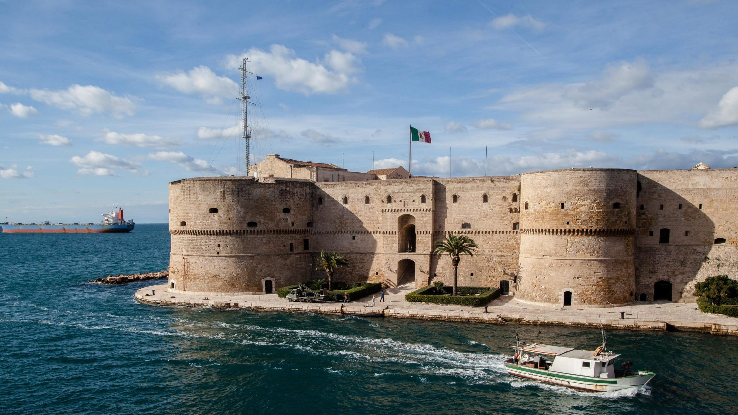 The Aragonese Castle of Taranto, Italy appears in this photo taken Nov. 29, 2017. (Credit: Paolo Manzo/NurPhoto via Getty Images)