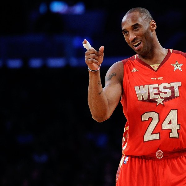 Kobe Bryant plays for the Western Conference team in the NBA All-Star Game at Staples Center on Feb. 20, 2011. (Credit: Kevork Djansezian / Getty Images)