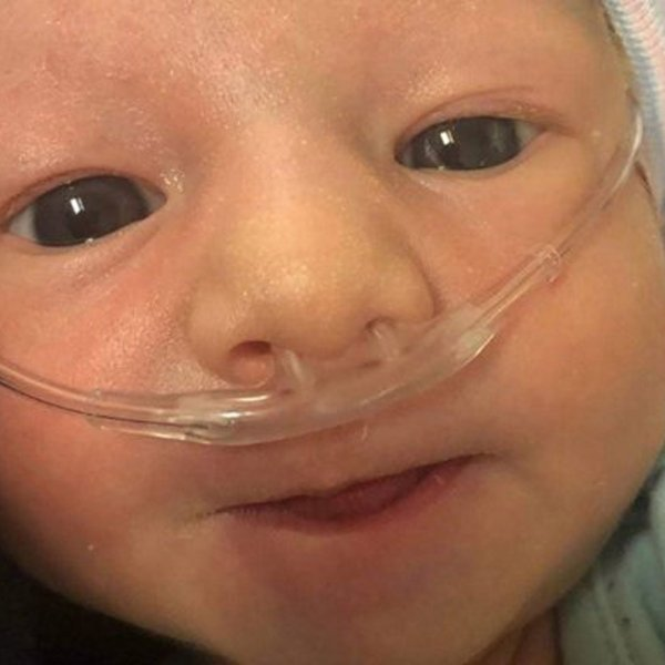 Baby Lily is seen in a photo posted to a GoFundMe page.