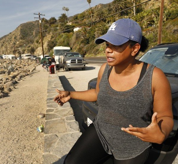 Nidia Greiss is seen in an undated photo. She and her husband live out of their vehicle parked on Pacific Coast Highway at Las Tunas Beach in eastern Malibu. (Credit: Al Seib / Los Angeles Times)