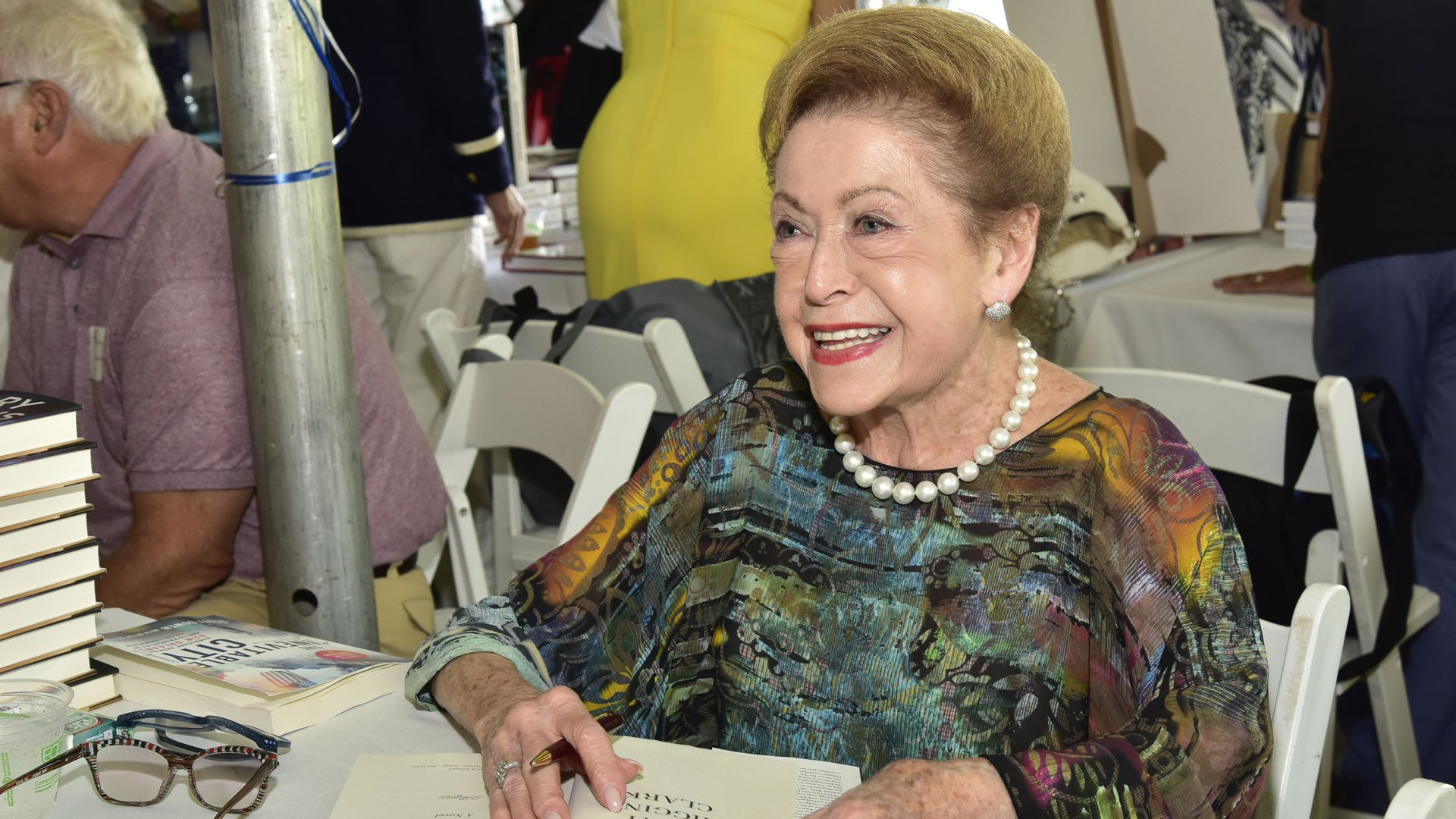 Mary Higgins Clark attends a library event in East Hampton, New York, on Aug. 13, 2016. (Credit: Eugene Gologursky / Getty Images for East Hampton Library)