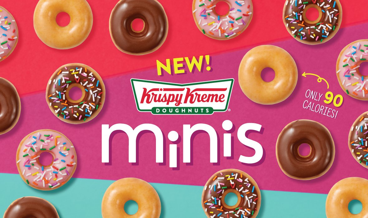 """Krispy Kreme's new """"minis"""" are shown in a promotional photo from the company's website."""