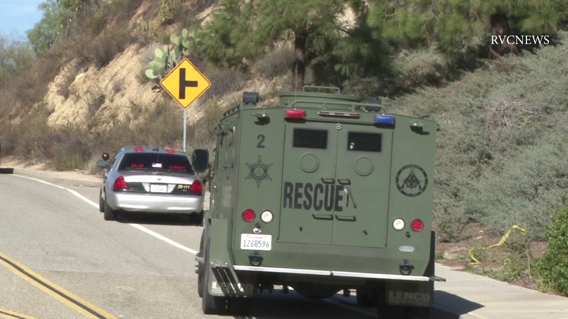 An investigation was underway after a deputy-involved shooting left a pursuit suspect dead in Murrieta on Jan. 2, 2020. (Credit: RVCNews)