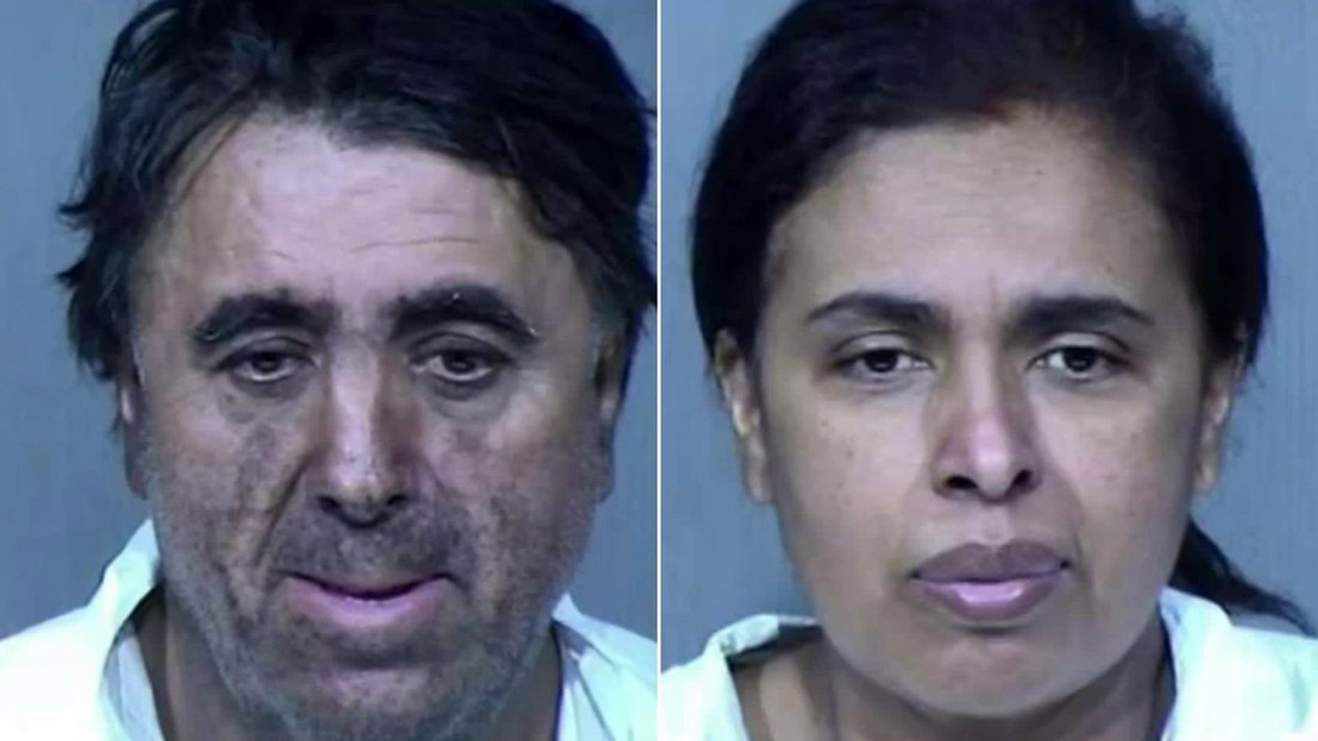 Rafael Loera, left, and Maribel Loera, right, are seen in booking photos.