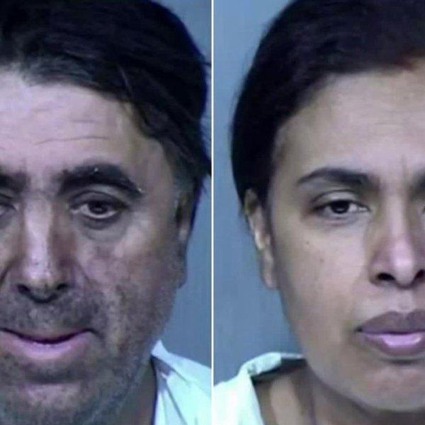 Rafael Loera, left, and Maribel Loera, right, are seen in booking photos.