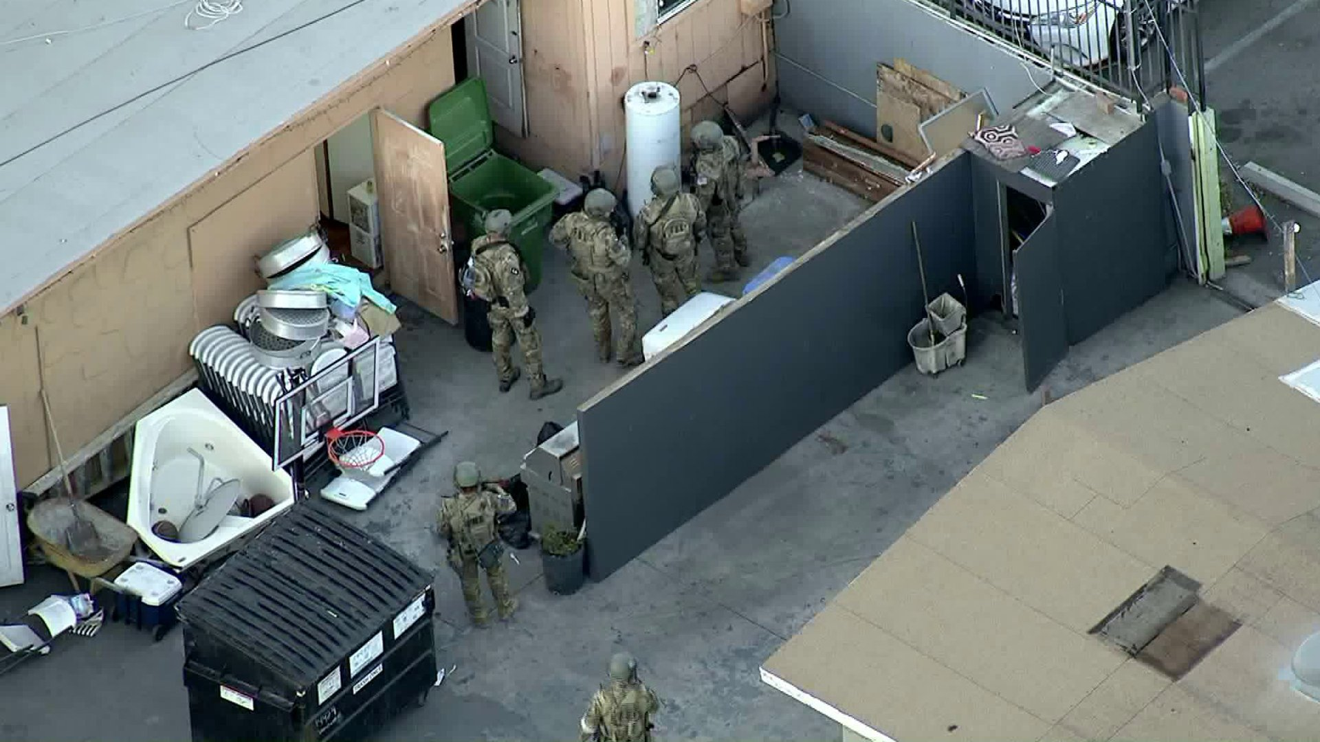 Federal agents raided the Kingdom of Jesus Christ church in Van Nuys on Jan 29, 2020. (Credit: KTLA)