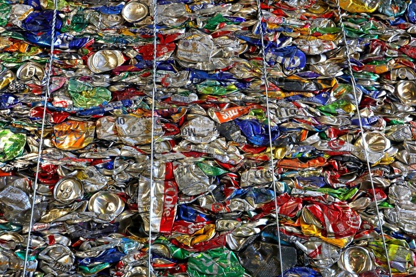 Recycled cans are shown in an undated file photo. (Credit: Carolyn Cole/Los Angeles Times)