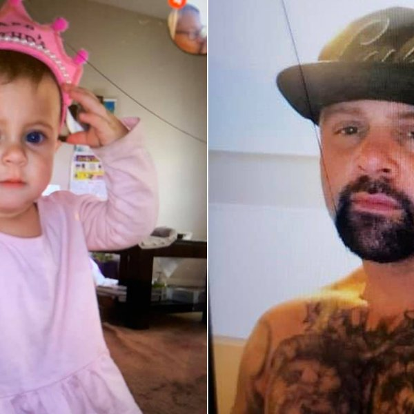 Santa Cruz police released these photos of Brian Sellen, right, and the child, left, on Jan. 17, 2020.