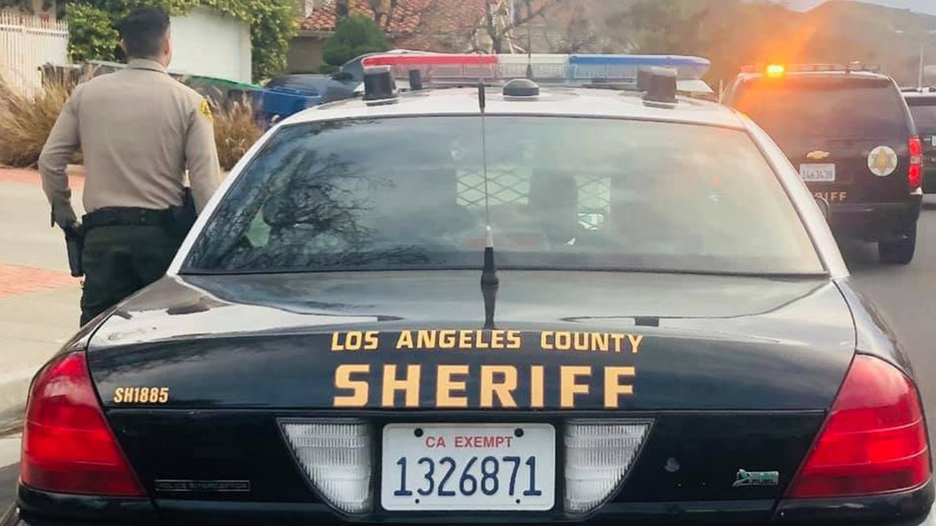 A concerned Saugus resident and deputies rescued a 90-year-old woman who fell inside her Saugus home on Jan. 1, 2019. (Credit: Los Angeles County Sheriff's Department)