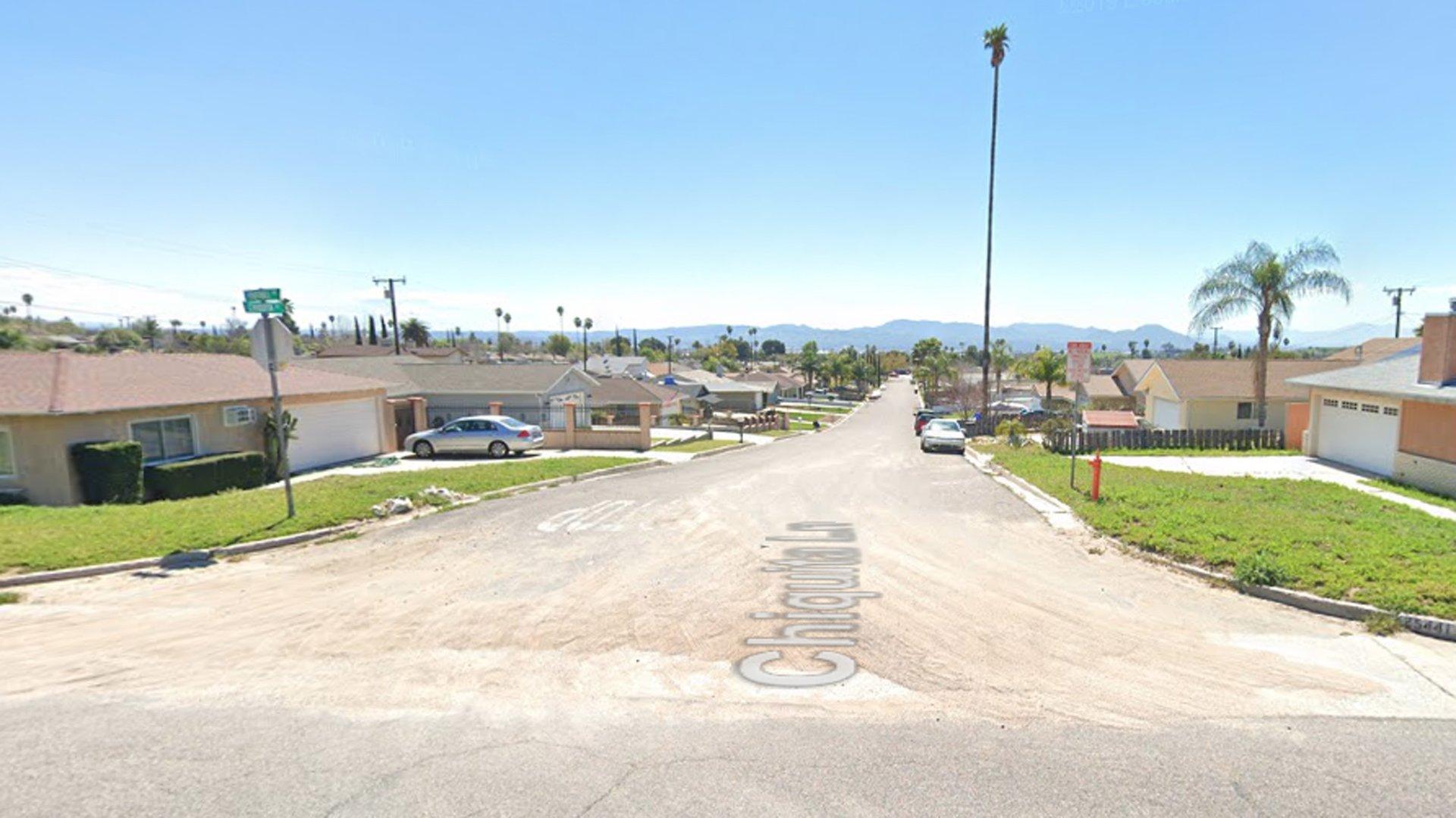 The 5300 block of Chiquita Lane in San Bernardino, as viewed in a Google Street View image.