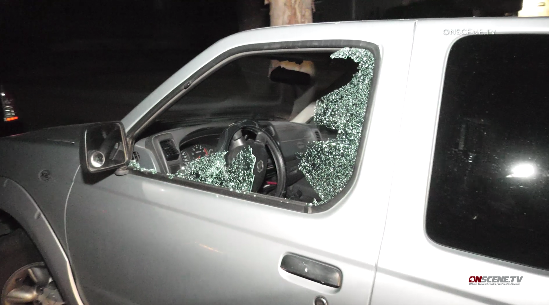 Dozens of vehicles were damaged in an overnight vandalism spree with a BB gun in Whittier and La Habra on Jan. 23, 2020. (KTLA)