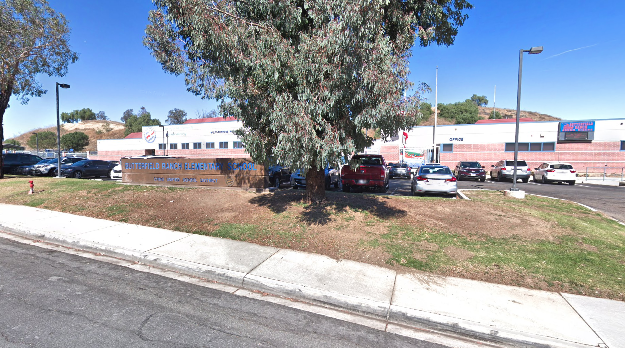 A Google Maps image taken outside of Butterfield Elementary School in Chino Hills is pictured on Jan. 30, 2020.