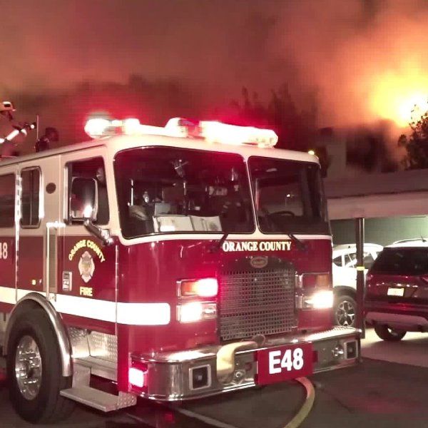 A Seal Beach apartment erupted in flames on Jan. 20, 2020.