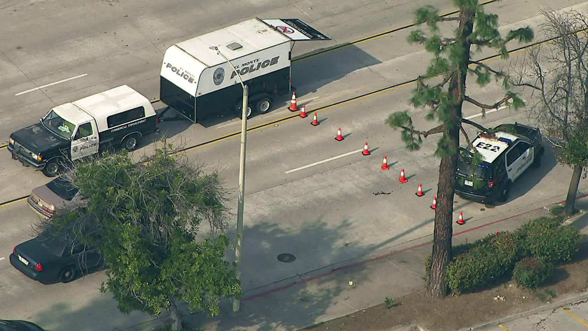 Sky5 footage shows a crime scene where a stabbing victim's body was found on Jan. 15, 2019.