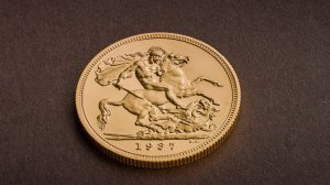 Edward VIII rare coin reverse side shown in photo. (Credit: The Royal Mint)