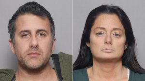 Michael Valva and Angela Pollina appear in booking photos provided by the Suffolk County Sheriff's Department on Jan. 25, 2020.