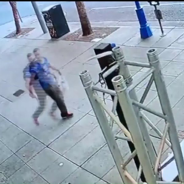 A man suspected of vandalizing a store in West Hollywood is seen in this surveillance image.