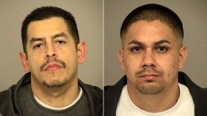 Frank Rivera, 37, and Gabriel Moreno, 29, both of Ventura, pictured in photos released by the Ventura County Sheriff's Office following their arrests on Jan. 9, 2020.