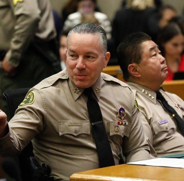 Los Angeles County Sheriff Alex Villanueva, left, is shown in an undated photo.(Credit: Al Seib/ Los Angeles Times)