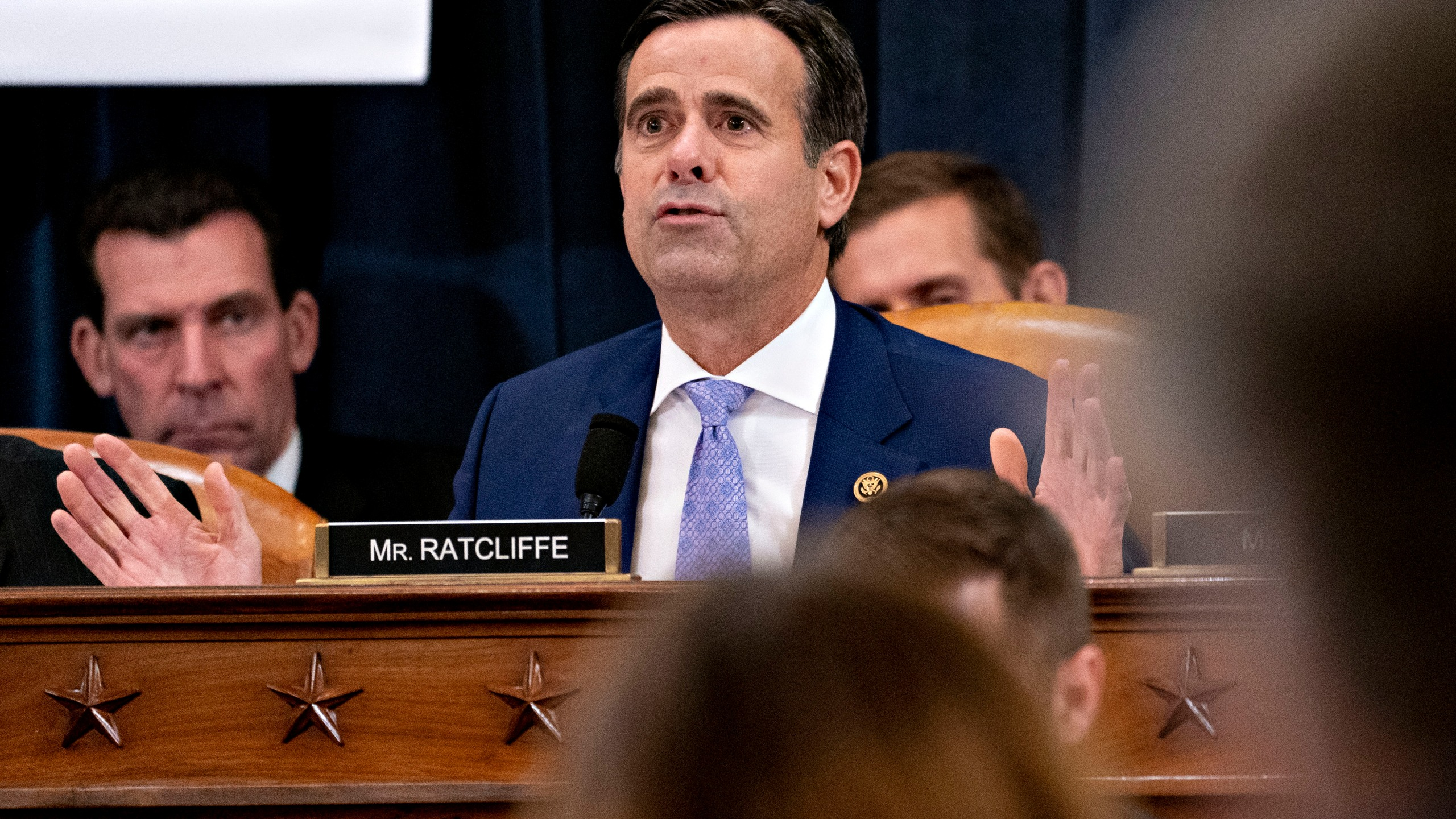 Rep. John Ratcliffe (R-TX) speaks during a House Judiciary Committee markup hearing on the Articles of Impeachment against President Donald Trump at the Longworth House Office Building on Thursday Dec. 12, 2019, in Washington, D.C. (Andrew Harrer - Pool/Getty Images)
