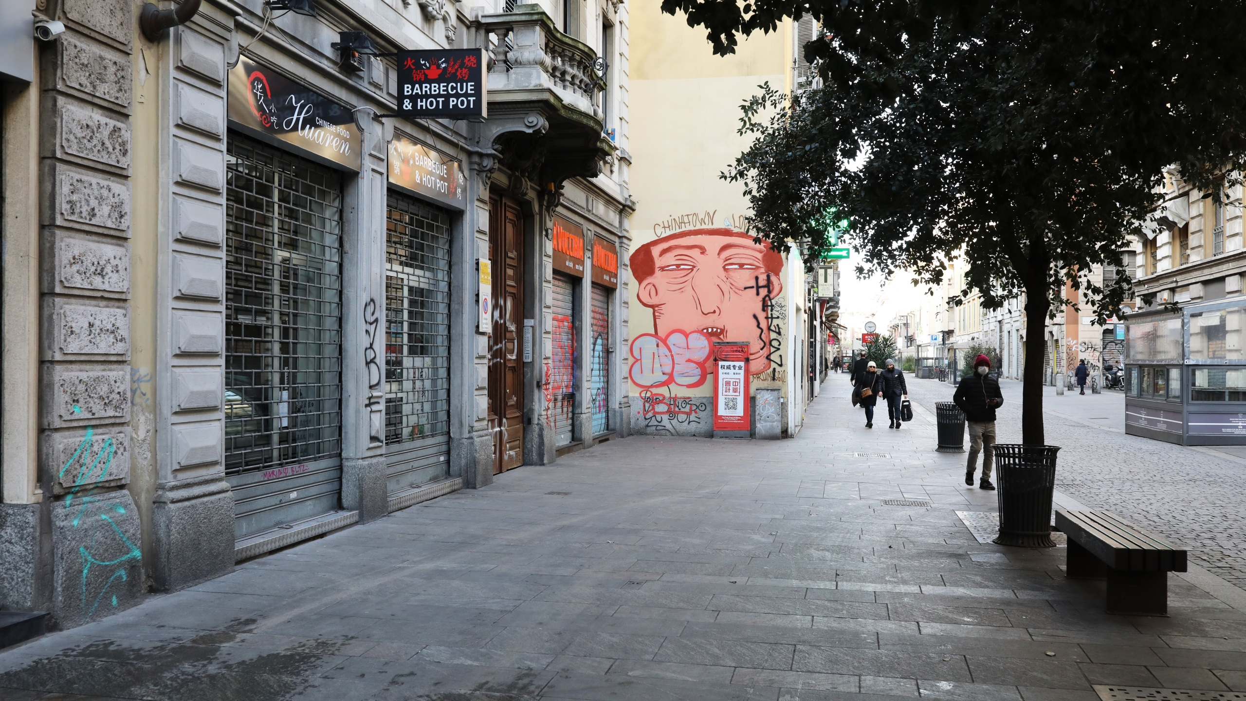 Streets are seen empty and all shops close on Feb. 27, 2020, in Milan, Italy, amid an outbreak of coronavirus. (Marco Di Lauro/Getty Images)