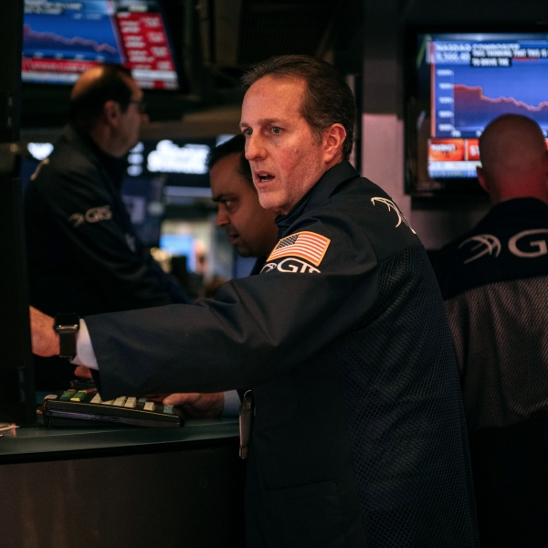 Traders work on the floor of the New York Stock Exchange on Feb. 27, 2020 in New York City. (Scott Heins/Getty Images)