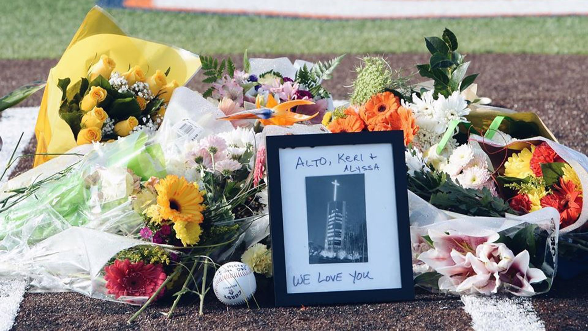 Orange Coast College pays tribute to the Altobelli family in this photo posted on the school's Facebook page on Jan. 31, 2020.