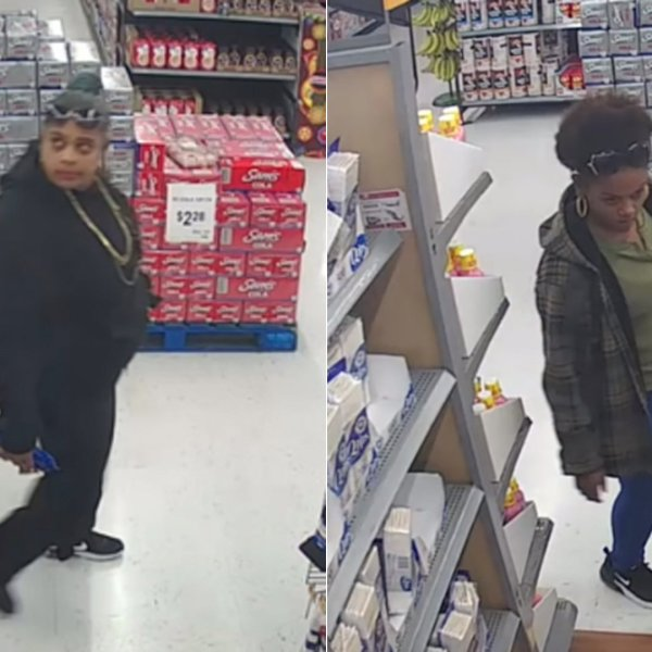 Anaheim police released these images of two women suspected of trying to rob a woman outside a Walmart on Feb. 13, 2020.