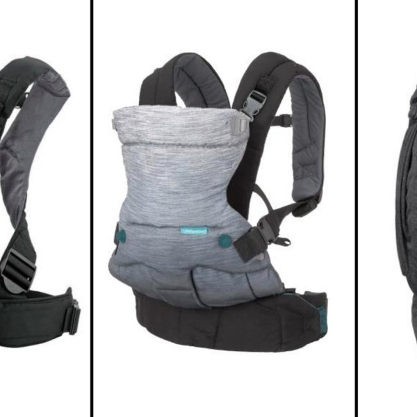 Pictured are Infantino baby carriers sold at Target and Amazon that were recalled in February 2020 over safety issues. (Credit: CPSC via CNN)