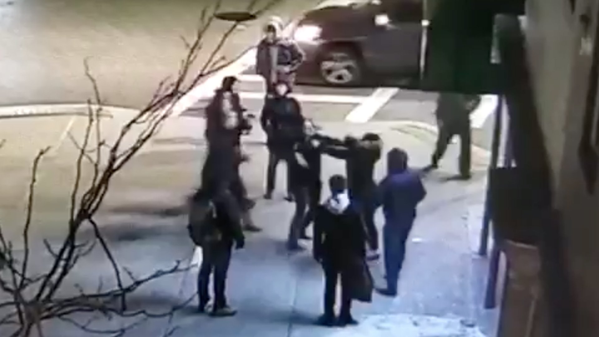 A woman and her 15-year-old daughter are attacked on the street in Boston in video released by Lawyers for Civil Rights.