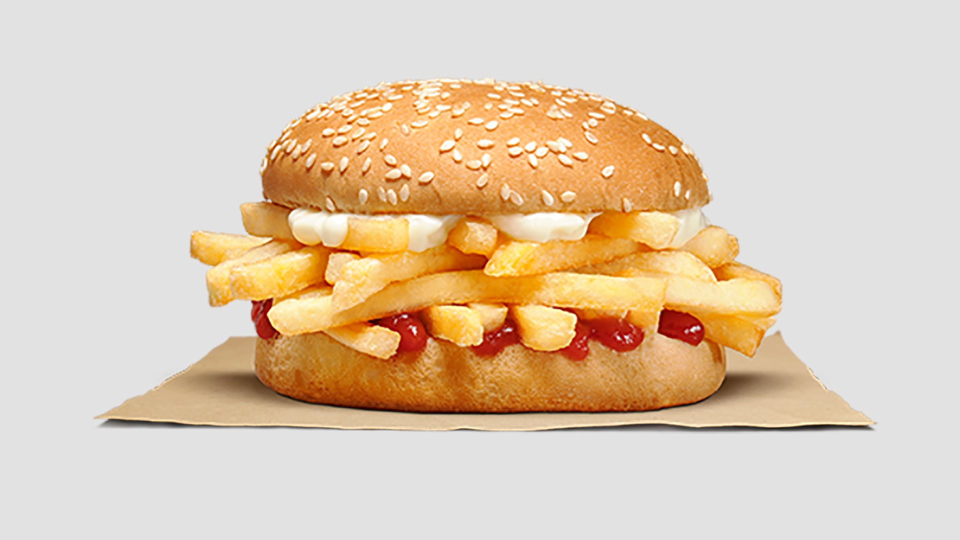 "Pictured is a sandwich Burger King launched in early 2020 in New Zealand, called the ""Chip Butty."" (Credit: Burger King New Zealand via CNN)"