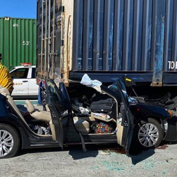The Los Angeles County Fire Department released this image of the Industry crash scene on Feb. 20, 2020.