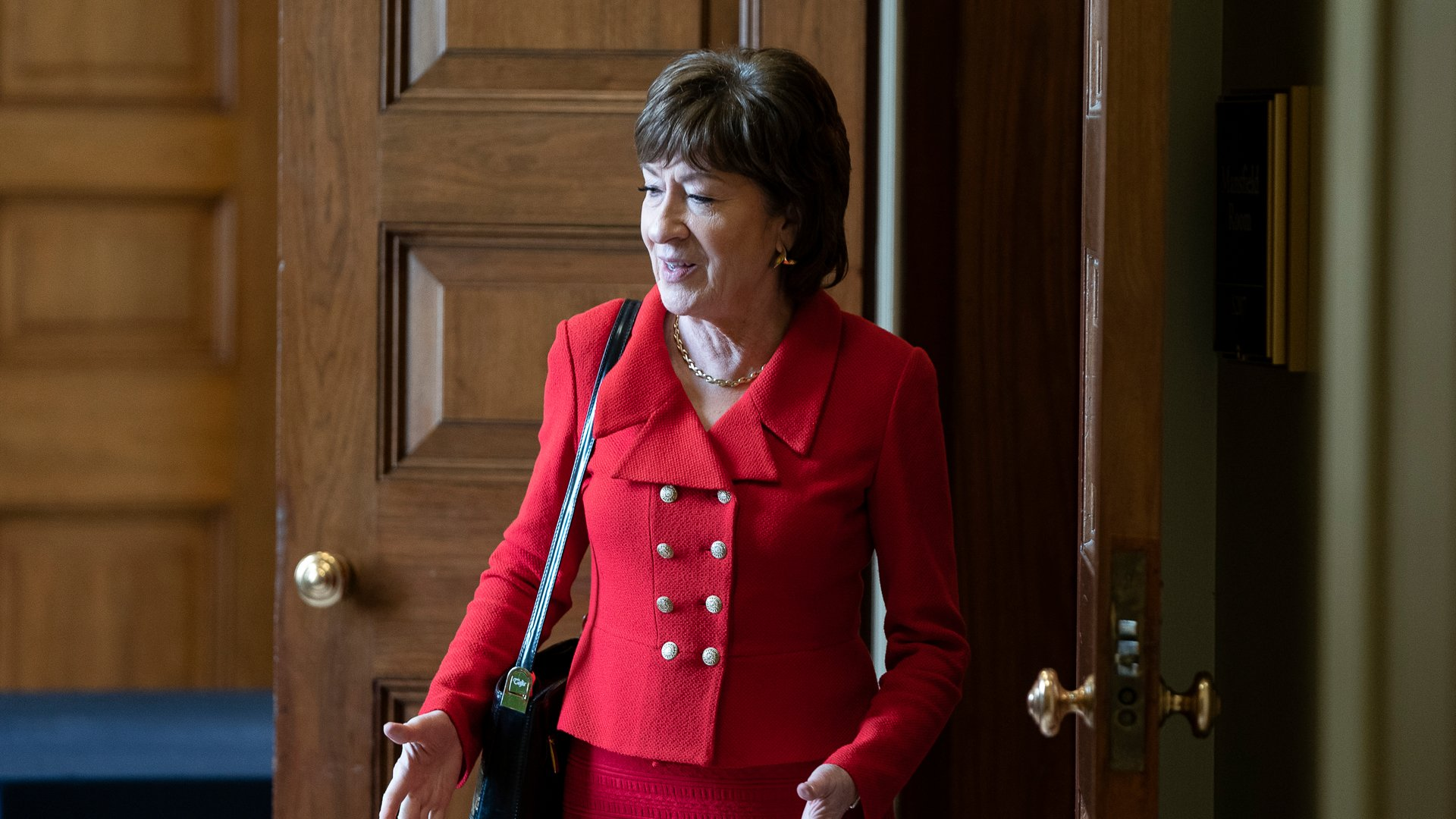 Sen. Susan Collins, R-Maine, departs a Senate policy lunch at the U.S. Capitol on February 4, 2020 in Washington, DC. (Credit: Alex Edelman/Getty Images)