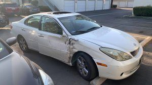 A 2006 Lexus ES330 believed to be involved in a deadly hit-and-run in Corona on Feb. 5, 2020. (Credit: Rod Richardson)