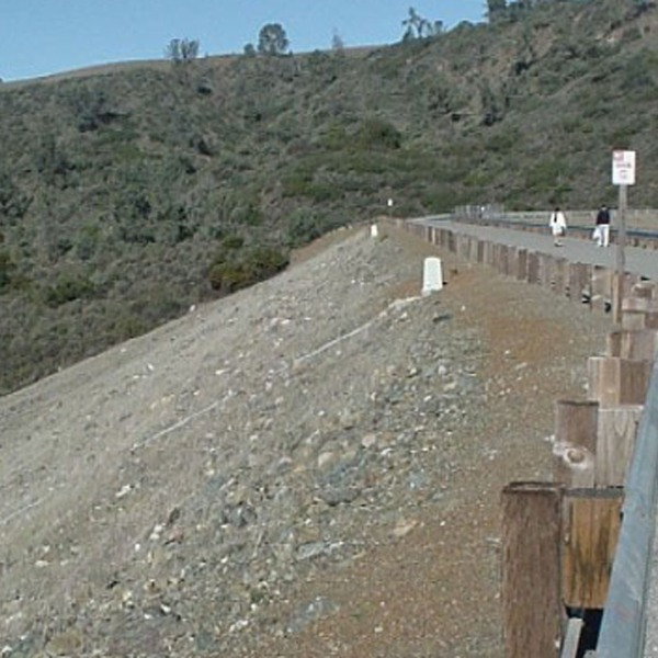 The Anderson Dam near Morgan Hill is seen in an undated photo posted on the U.S. Geological Survey website.