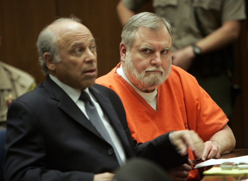 Former Catholic priest Michael Baker, right, is seen at his sentencing in December 2007. (Credit: Mel Melcon / Los Angeles Times)