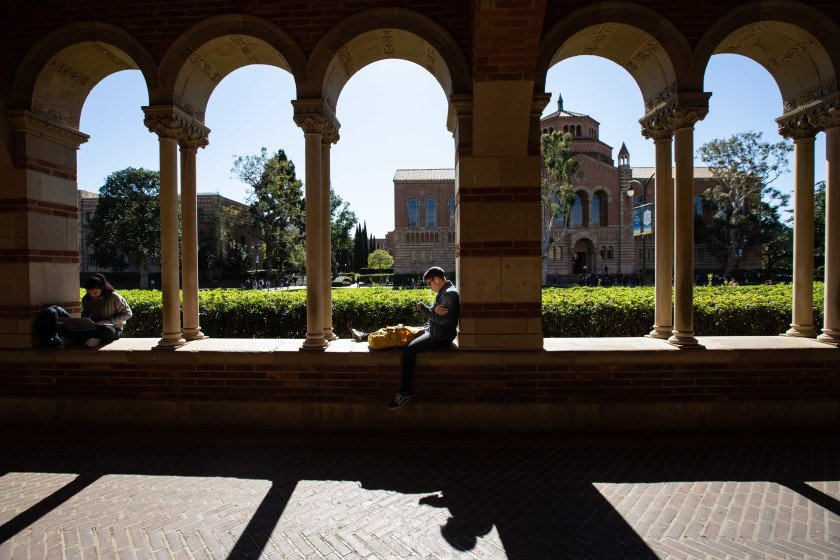 Students study on the UCLA campus in this undated photo. (Credit: Jason Armond / Los Angeles Times)