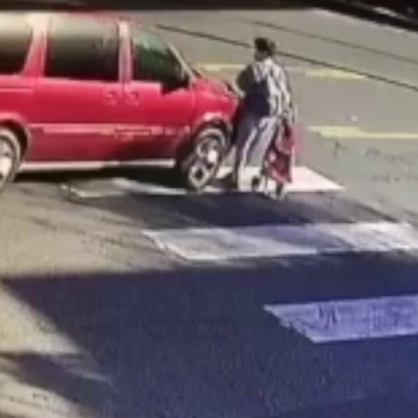 Police released video of a pedestrian being struck by a hit-and-run driver in East Hollywood on Feb. 11, 2020.