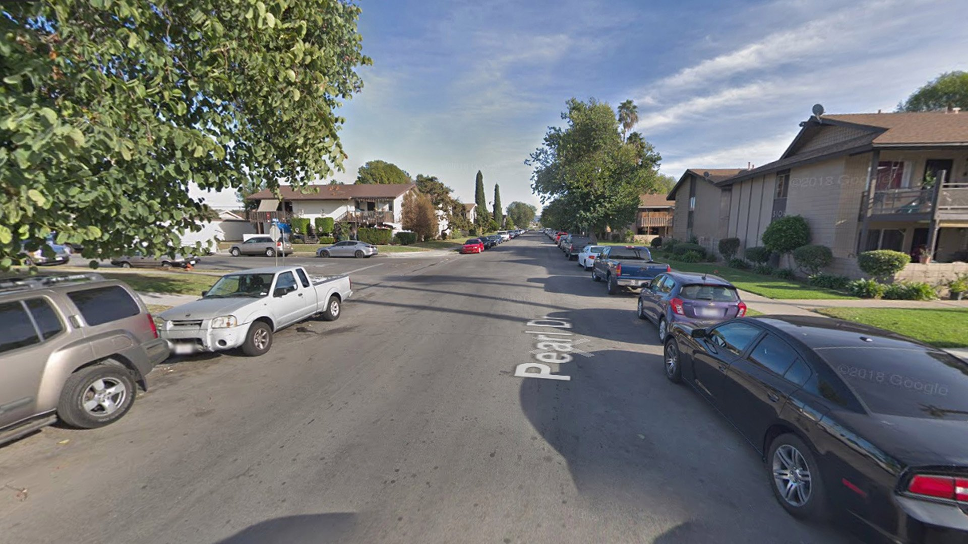 The 3100 block of Pearl Drive in Fullerton appears in this photo from Google Maps.