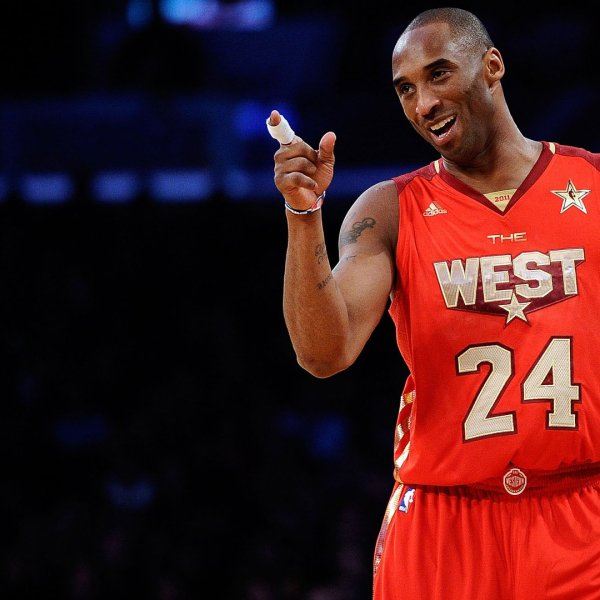 Kobe Bryant is seen at the 2011 NBA All-Star Game at Staples Center on Feb. 20, 2011, in Los Angeles. (Credit: Kevork Djansezian/Getty Images)