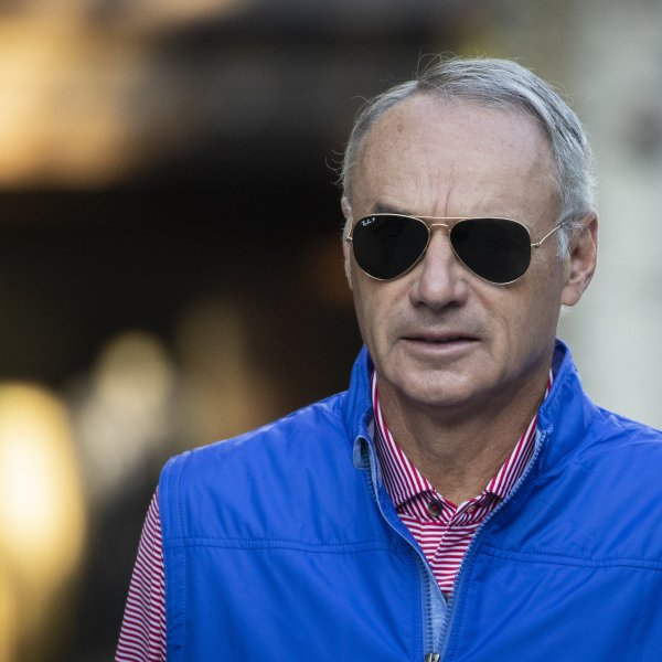 Rob Manfred, commissioner of Major League Baseball (MLB), attends the annual Allen & Company Sun Valley Conference, July 12, 2019, in Sun Valley, Idaho.(Credit: Drew Angerer/Getty Images)