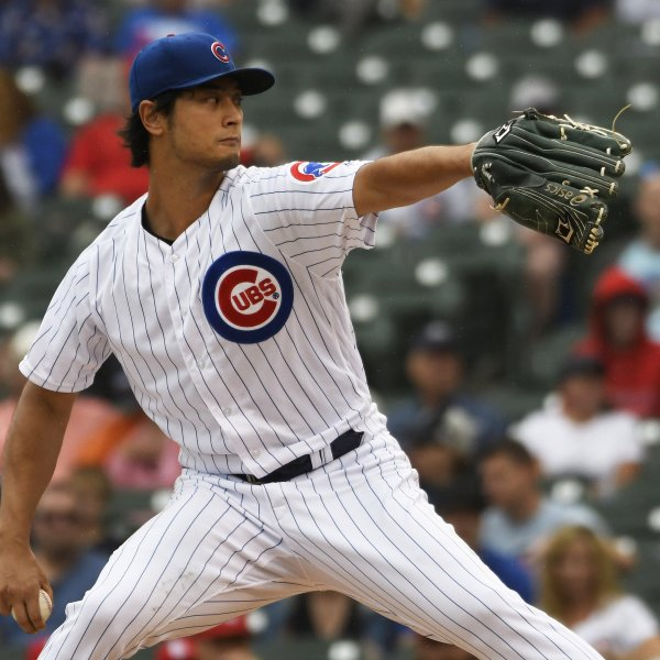Yu Darvish #11 of the Chicago Cubs pitches against the St. Louis Cardinals during the first inning at Wrigley Field on Sep. 22, 2019, in Chicago, Illinois. (Credit: David Banks/Getty Images)