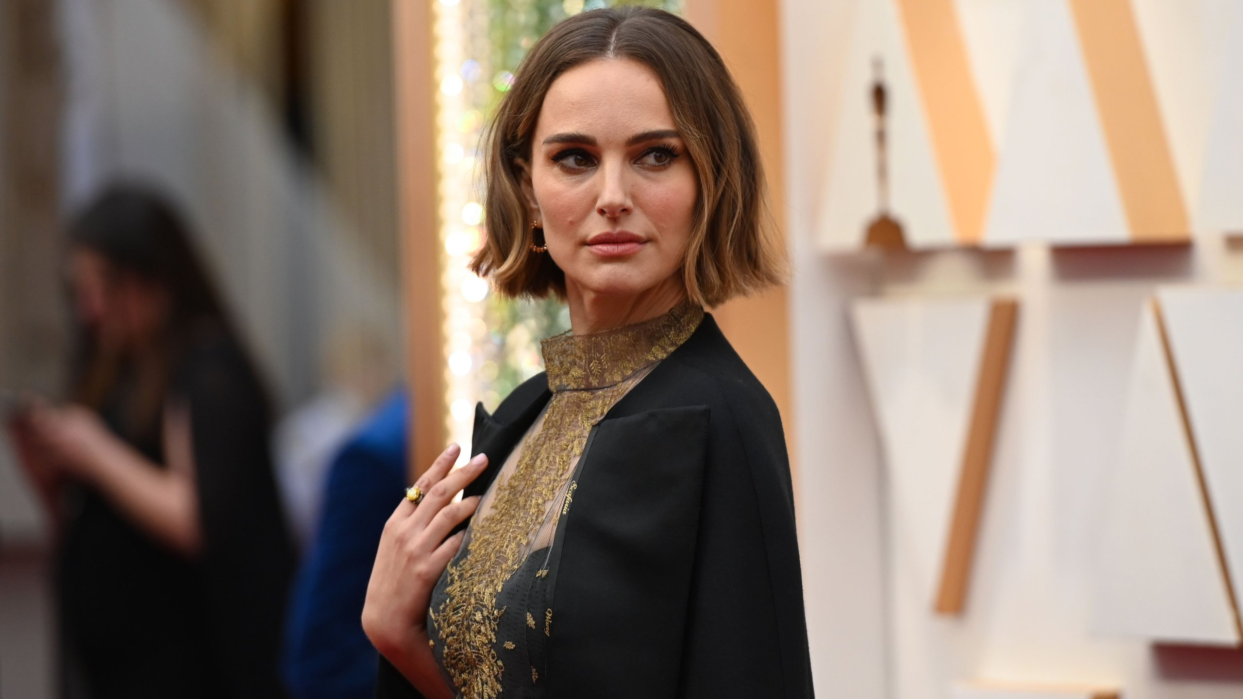 Natalie Portman arrives for the 92nd Oscars at the Dolby Theatre in Hollywood on Feb. 9, 2020. (Credit: ROBYN BECK/AFP via Getty Images)