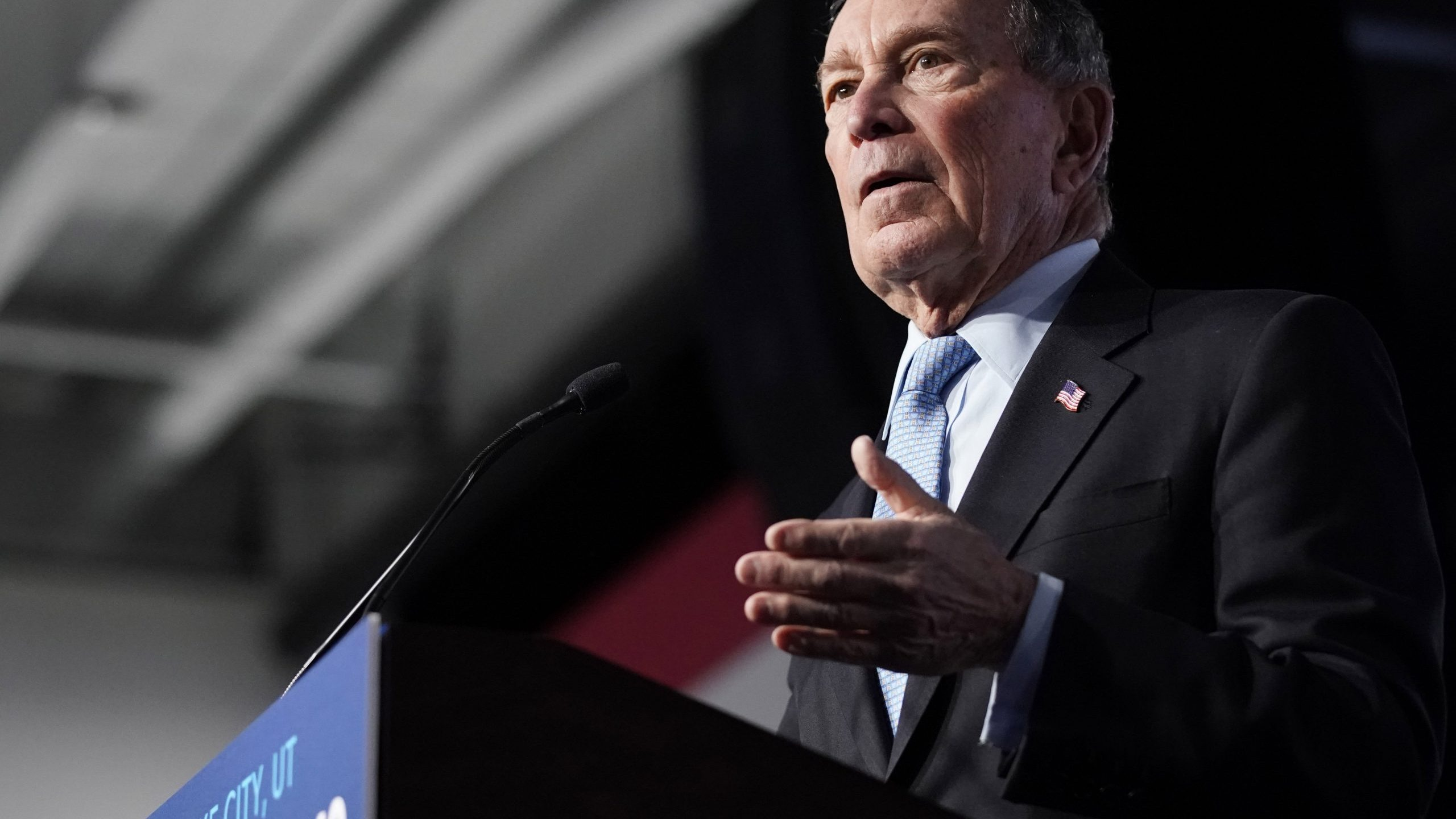 Democratic presidential candidate, former New York City Mayor Mike Bloomberg speaks to supporters at a rally on Feb. 20, 2020, in Salt Lake City, Utah. (Credit: George Frey/Getty Images)