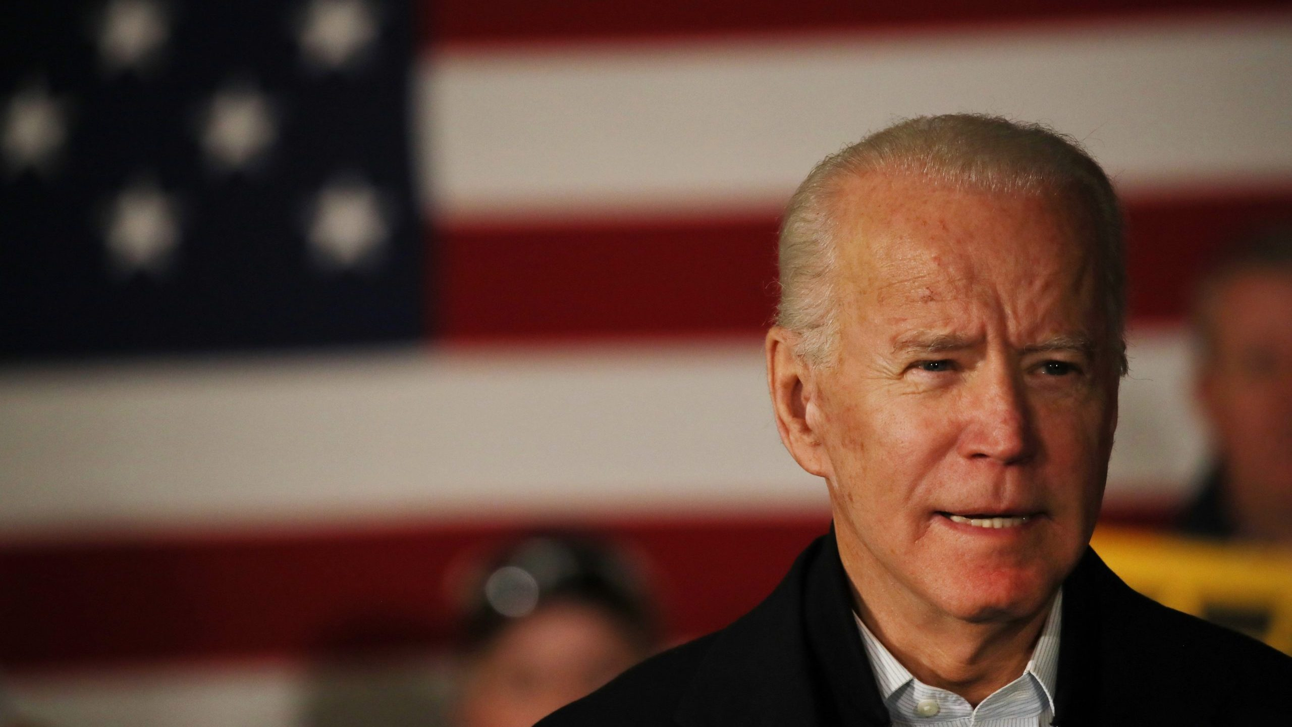 Democratic presidential candidate former Vice President Joe Biden speaks at an event on February 5, 2020, in Somersworth, New Hampshire. (Spencer Platt/Getty Images)