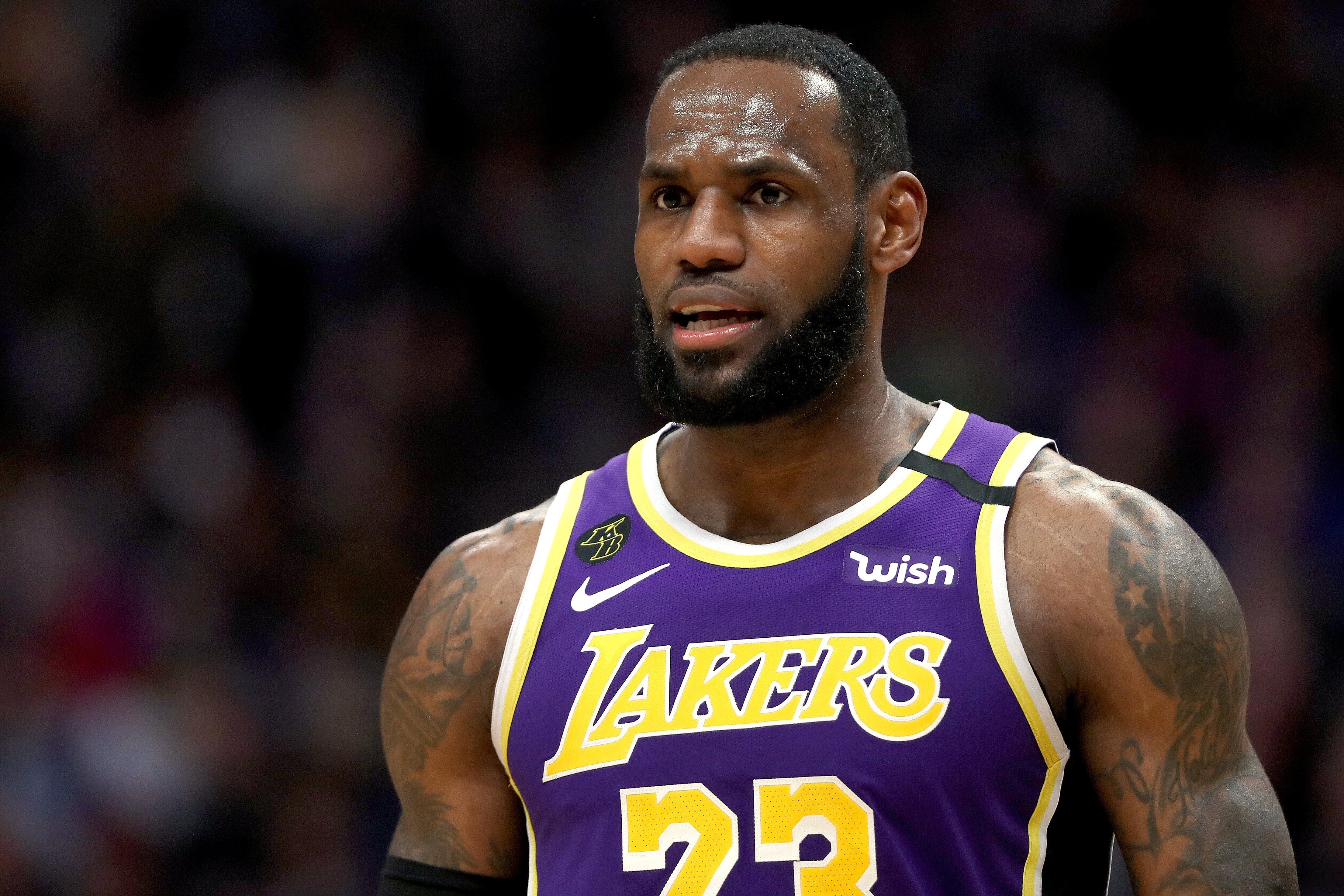 LeBron James won't wear social justice phrase on Lakers jerseys ...