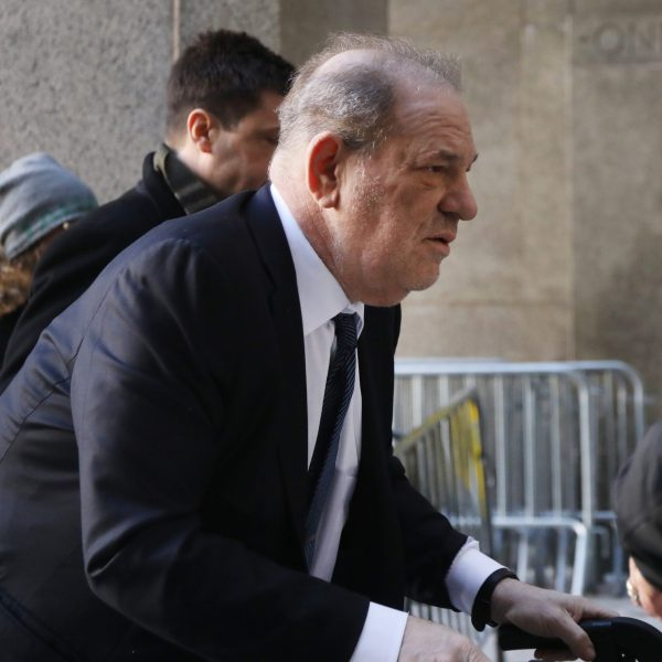 Harvey Weinstein arrives at Manhattan criminal court house as a jury continued with deliberations on Feb. 21, 2020, in New York City. (Spencer Platt/Getty Images)