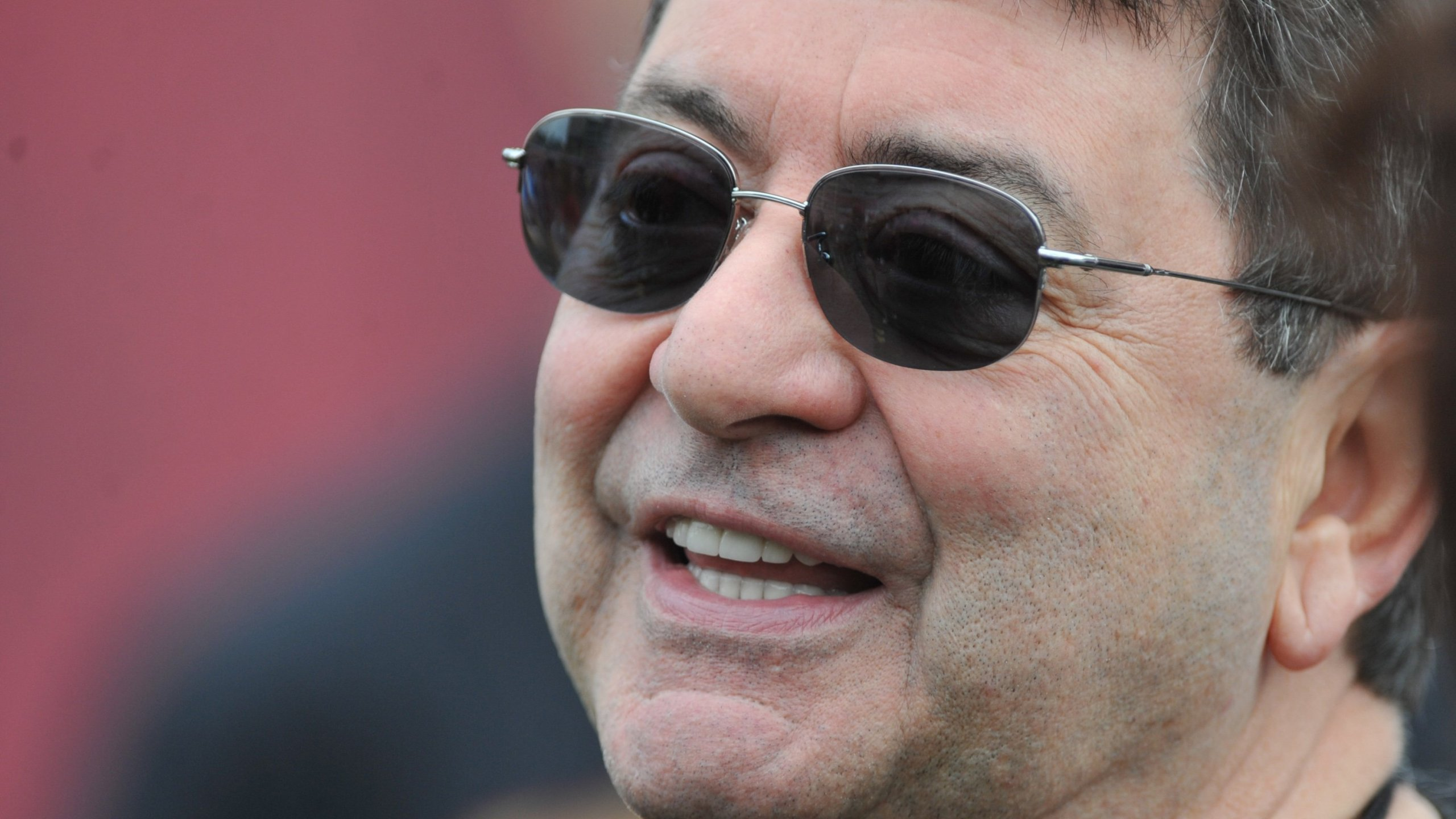 Former owner Eddie DeBartolo Jr. of the San Francisco 49ers watches warmups before play against the Tampa Bay Buccaneers December 15, 2013 at Raymond James Stadium in Tampa, Florida. (Credit: Al Messerschmidt/Getty Images)
