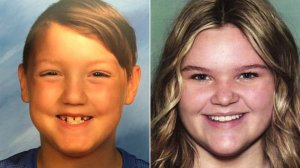 Joshua Vallow, left, and his sister Tylee Ryan are seen in photos released by the Rexburg Police Department.