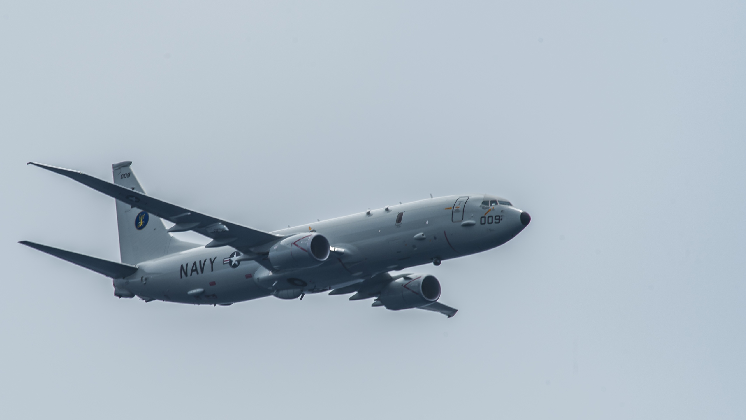 "The US Navy said Thursday that a Chinese military warship fired a military grade laser at US Navy P-8 surveillance aircraft last week while it was flying over the Pacific Ocean, an action that the US Navy called ""unsafe and unprofessional."" (Alex Perlman/US Navy)"